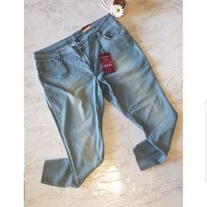 Plus Size Light Wash Skinny Denim Jean